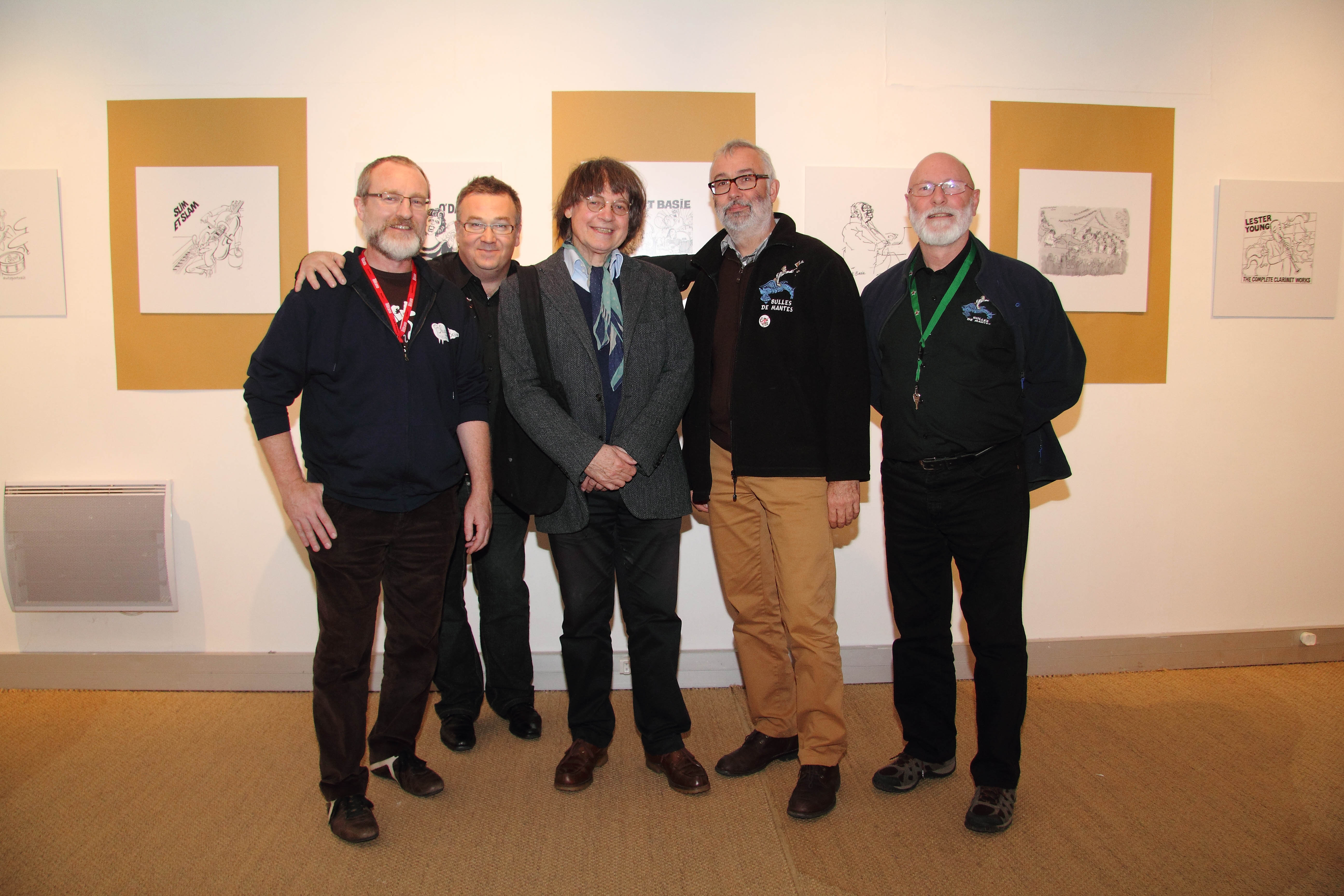 (Rosny sur seine) Exposition Cabu à l'Hospice St Charles - Pilou, Alain, Cabu, Frédéric et JM