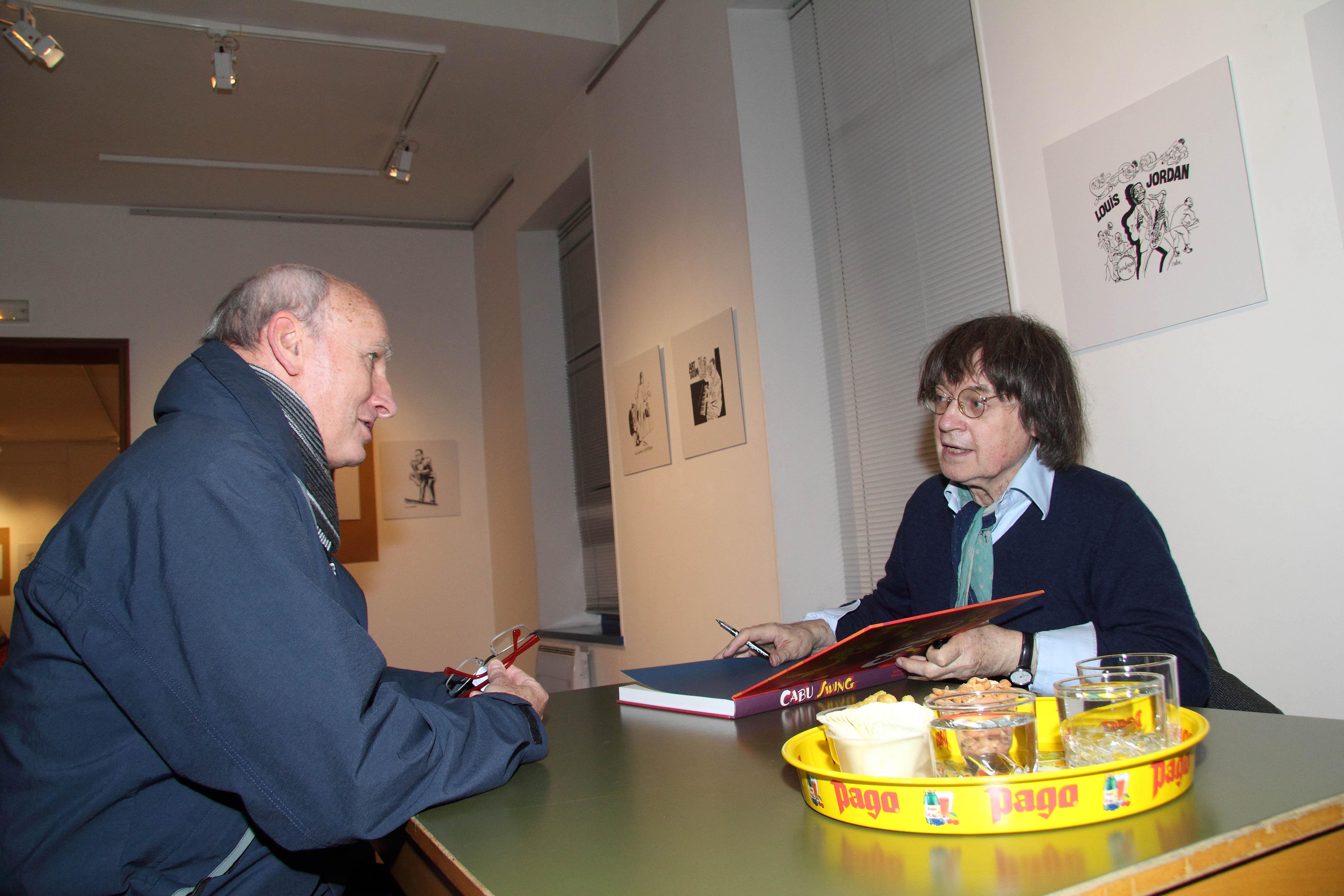 (Rosny sur seine) Exposition Cabu à l'Hospice St Charles - Cabu face à un lecteur